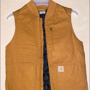 Carhartt Women's Sandstone Mock Neck Vest.